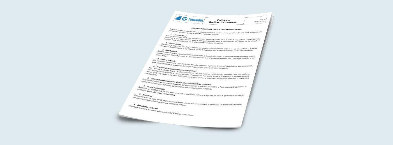 Tubosider, Codice di Comportamento